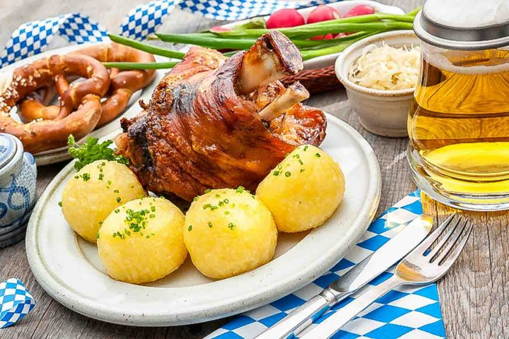 A specialty of Germany: Schweinshaxe (pork knuckle or pork shank)