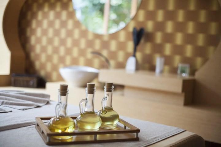 massage oils at hotel spa - couples massage