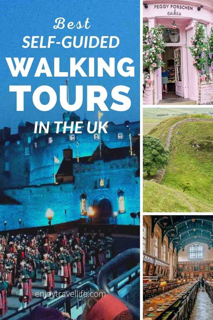 "Pinterest Cover: Best Self-Guided Walking Tours in the UK by enjoytravellife.com ""Pin for later!"""