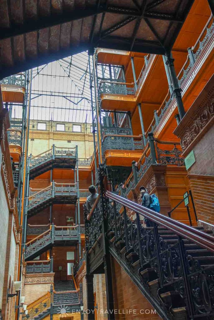 Bradbury Building in LA, set of Bladerunner movie scenes