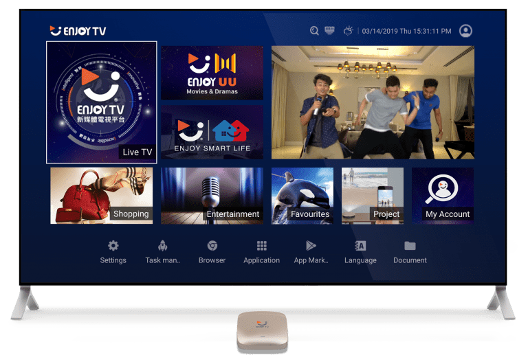Enjoy TV Home Interface