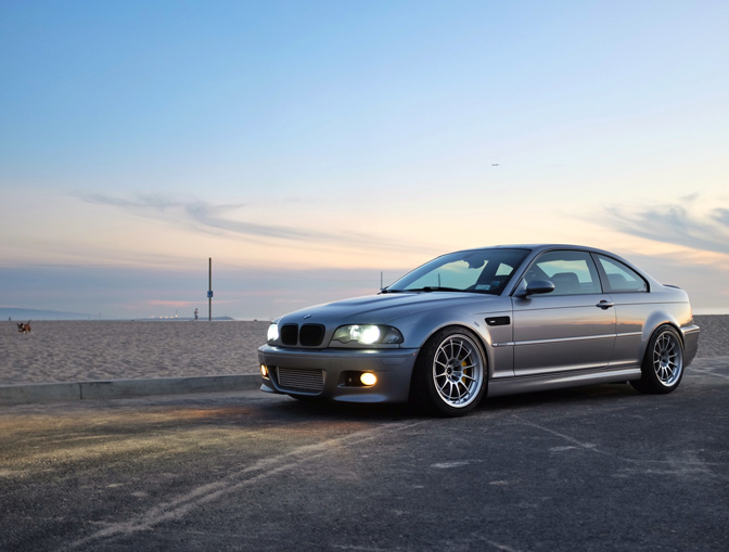 BMW e46 M3 on Enkei NT03+M Racing Series Wheels