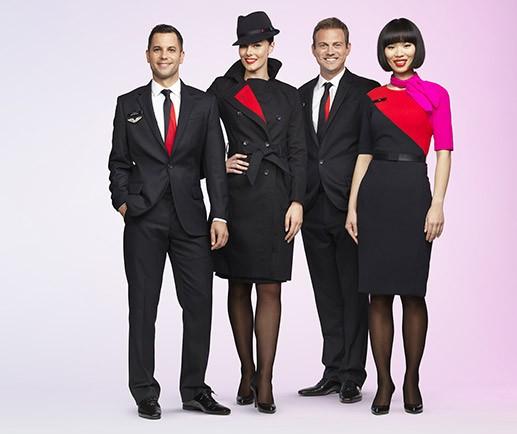 Qantas uniformer for kabinbesetningen. Foto: Qantas