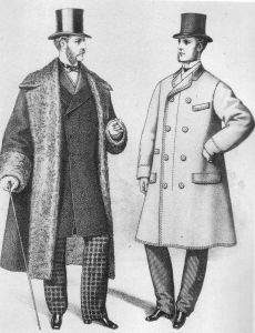 Velkedde engelske herrer, ca 1870. By Unknown - The Gazette of Fashion, 1872, Public Domain, https://commons.wikimedia.org/w/index.php?curid=935151