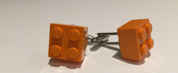 """Hjemmelagde mansjettknapper med Lego-klosser. Verdens bete """"conversation starter"""""""