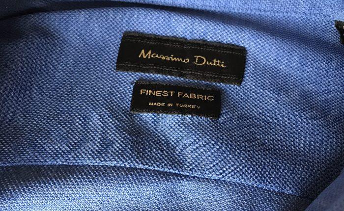 Skjorte i piquet-vev fra Massimo Dutti