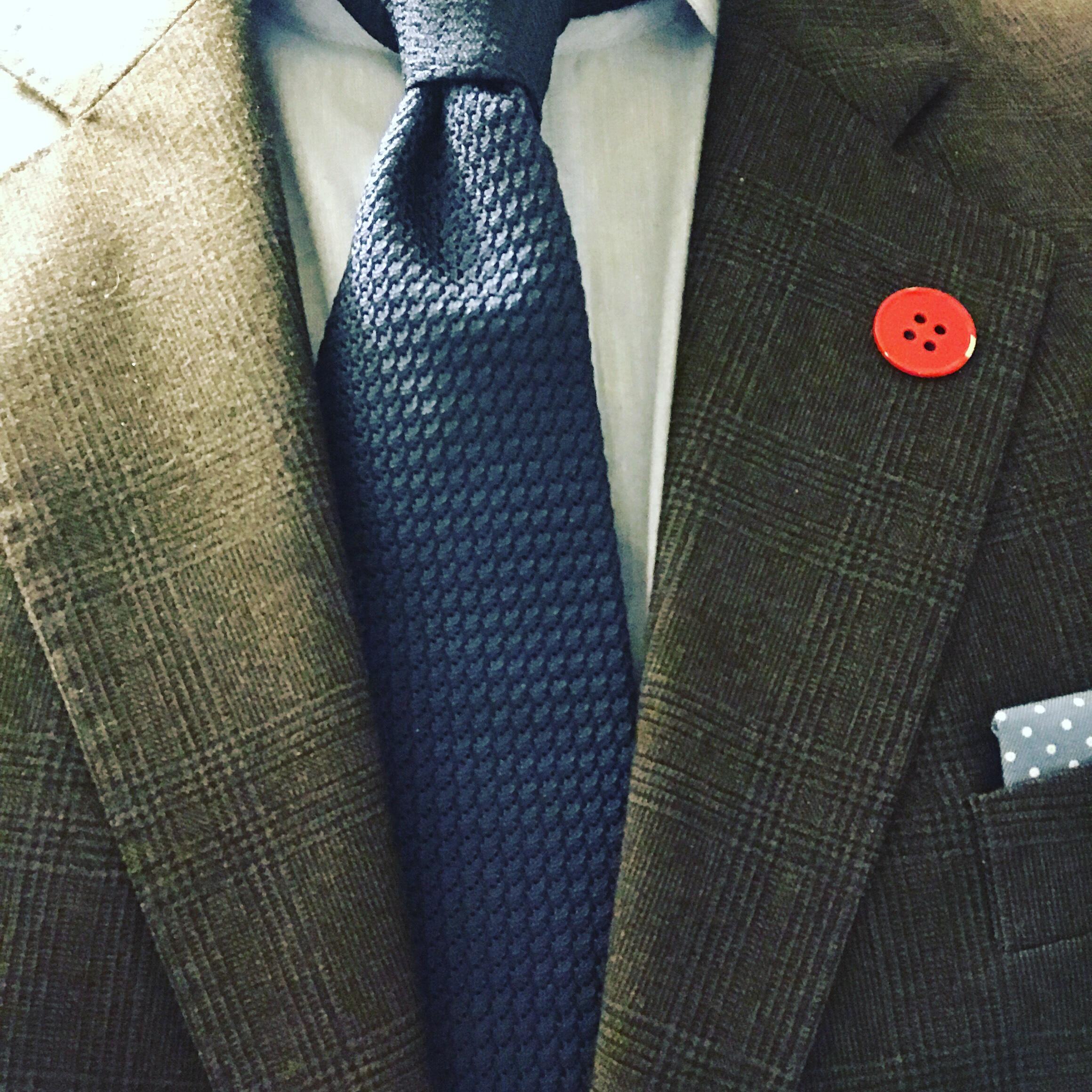 7a03097d Blått grenadine-slips fra Charles Tyrwhitt går veldig fint med min brune  rutete dress fra Viero Milano.