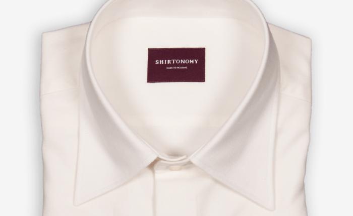 Skjorte i kasjmirblaning fra Shirtonomy
