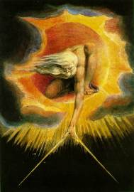 William Blake - l'Ancien des Jours traçant le cercle du monde (1794)