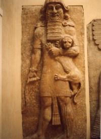 Enkidu, bas-relief trouvé près de Mossoul (Irak) - 713-706 av. notre ère