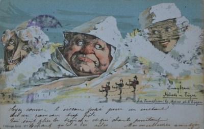 La Jungfrau, le Moine et l'Eider, 1897 - carte postale de Emil Nolde (1867-1956)
