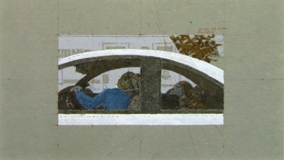 """1999 - Alex Colville -Study for  """"Dog in Car"""""""