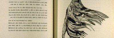 Leonard Baskin, Illustration de l'édition Yiddish du Vieil homme et la mer - 1958.