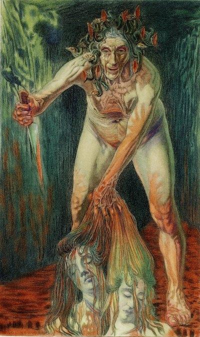 Carlos Schwabe Les Fleurs du mal, le tonneau de la haine