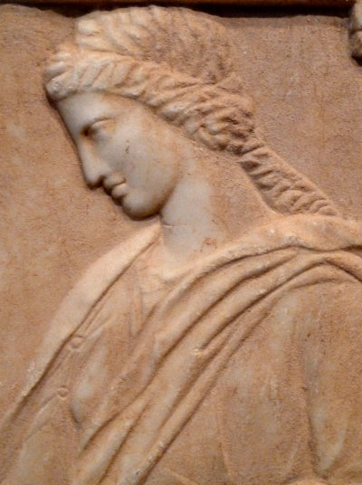 stèle funéraire de Mynnia (Grèce, Athenes, env. 370 av. J.-C.) - Mynnia