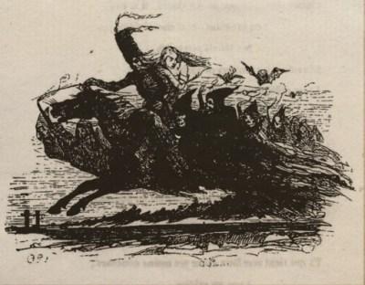La course des suppliciés ou Lénore - Octave Penguilly gravure Louis - 1842
