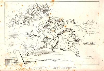 Lénore - illustration de J. Chr. Ruhl - 1827