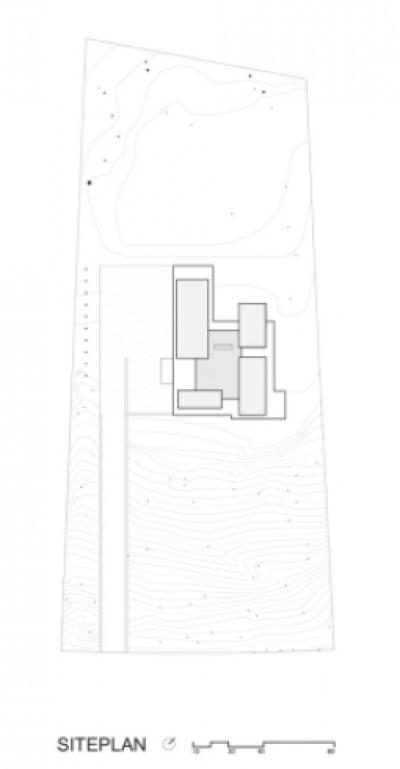 BlackWhite residence in Maryland by David Jameson Architect - Plan Masse