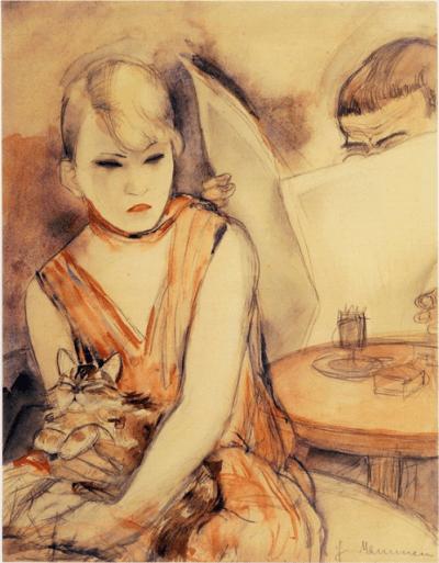 Jeanne Mammen - la femme au chat - 1920