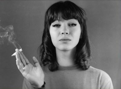 Anna-Karina-bangs-and-cigaret