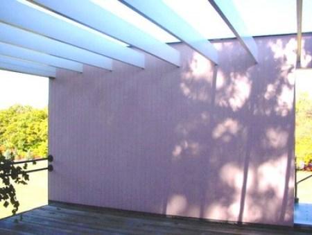 Gropius House à Lincoln - balcon avec pergola