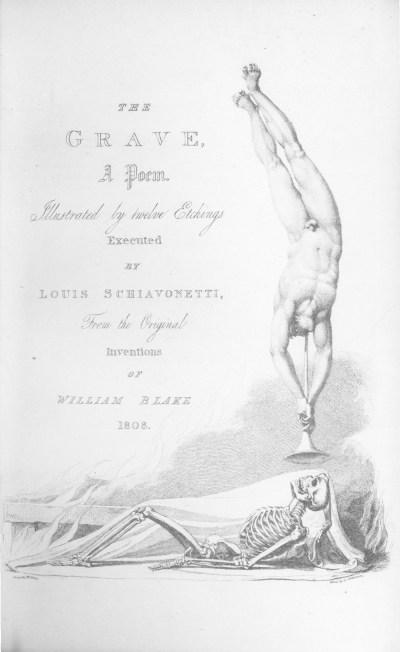 """. La figure ci -contre reproduit la gravure placée sur le titre au Sépulcre de Blair : """"la Trompelle du Jugement dernier"""""""