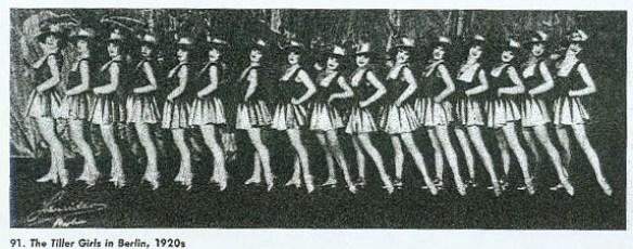 Tiller girls à Berlin - 1920