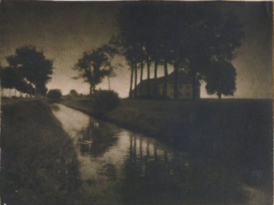 Abend am schleissheimer, 1899 - photographe Heinrich Kühn