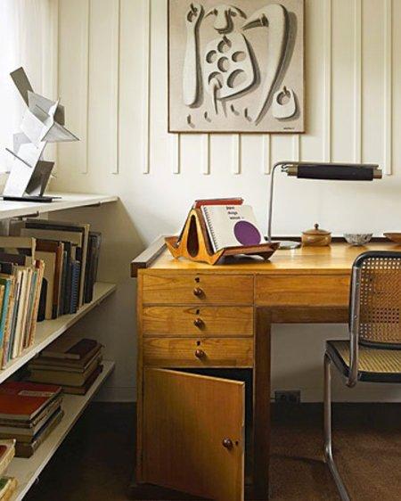 Gropius House à Concord : bureau du rez-de-chaussée