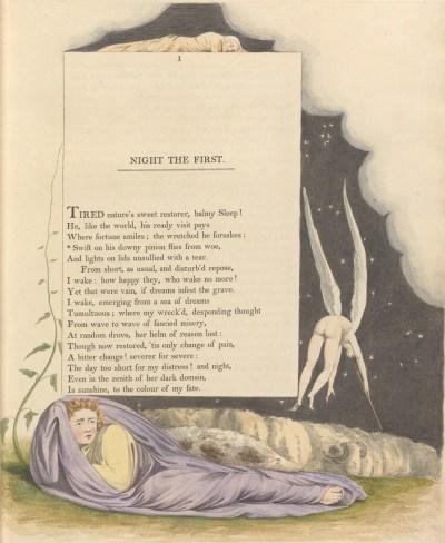 William Blake - illustration de Night Thoughts