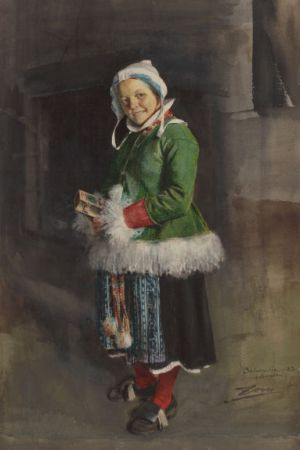 Anders Zorn - Little Girl in Traditional Dress, 1883