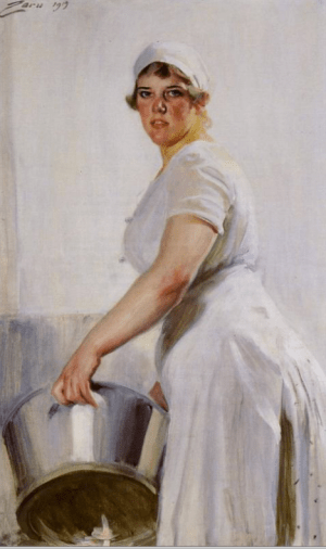 Anders Zorn - akitchen maid, 1919