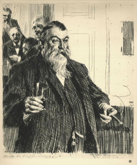Anders Zorn - the toast, 1893