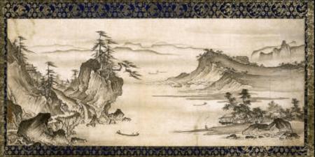 Shokei Kenko - Landscape, Sansuizu Muromachi period, late 15th-early 16th century - Museum of Fine Arts, Boston