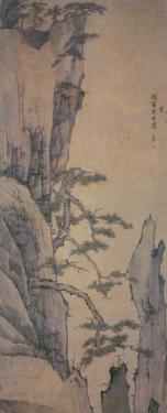 黄海树石_渐江