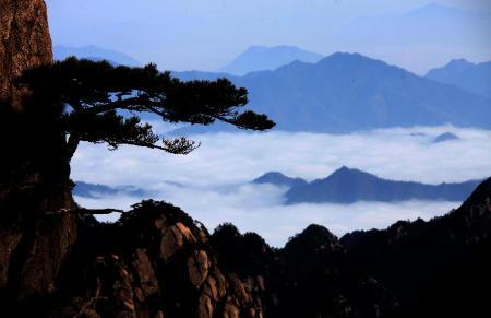 mer de nuages sur les montagnes du HuangShan