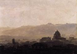 Pierre-Henri de Valenciennes - vue de Rome le matin, entre 1782 et 1784