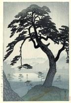 Shiro Kasamatsu - Pin sous la pluie, Kinokunizaka, in Tokyo, 1938