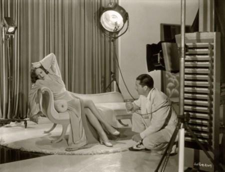 le photographe Elmer Fryer avec l'actrice Jane Wyman