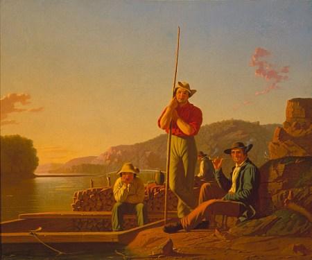 George Caleb Bingham - The Wood Boat, 1850