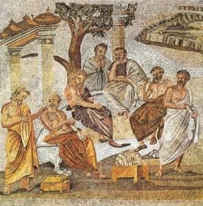 l'Académie de Platon - mosaïque  — Villa de T. Siminius Stephanus à Pompéi