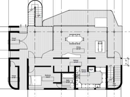 Richard Meier - Douglas House - niveau inférieur