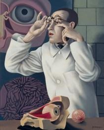 Herbert Ploberger: Selbstbildnis mit ophtalmologischen Lehrmodellen, um 1928/30