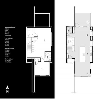 Schield House à Denver - atelier H:T architects : plans