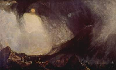 Joseph Mallord William Turner - Hannibal franchissant un col dans les Alpes, 1812