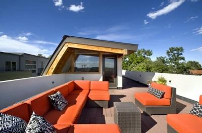 maison Bouclier de Denver : la terrasse supérieure et l'édicule