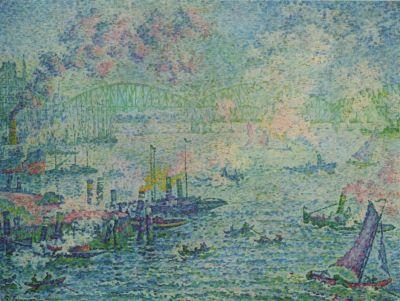 Paul Signac - port de Rotterdam, 1907