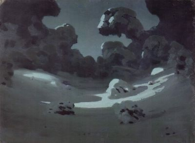 Arkhip Kuindzhi - Clair de lune dans une forêt en hiver, entre 1898 et 1918