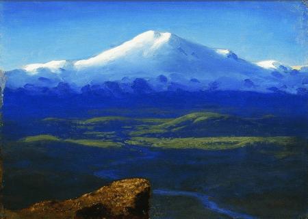 Arkhip Kuindzhi - Sommet enneigé, vers 1895