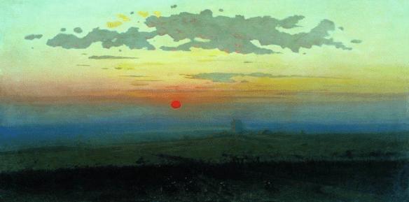 Arkhip Kuindzhi - Coucher de soleil dans la steppe, 1900
